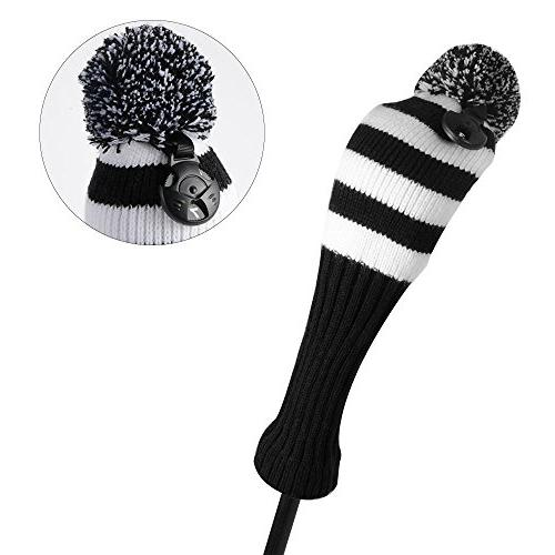 PLAYEAGLE Knitting Golf Cover,Fairway Wood Covers for Taylormade,Callaway,Titleist and More Brand