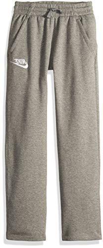 NIKE Sportswear Boys' Club Fleece Open Hem Pants, Carbon Hea