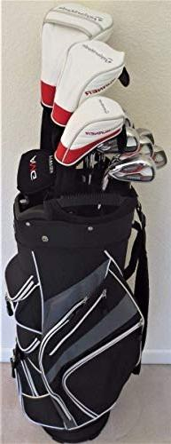TaylorMade Mens Golf Club Set - Complete Driver, Fairway Woo
