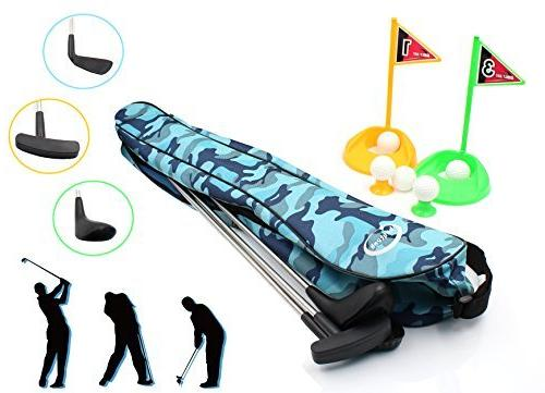 toy golf clubs set deluxe