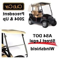 US DOT AS4 Street Legal Club Car Precedent Golf Cart Windshi