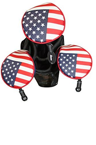 Majek USA Golf Zipper Head 1 5 Woods Style Patriotic Driver All and