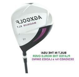AGXGOLF LADIES RIGHT HAND XLT 460cc 12 DEGREE DRIVER wGRAPHI