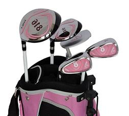 Sephlin - Lady E Girls Pink Right Hand 5 Pcs Golf Clubs Set