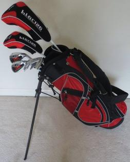 Left Handed Junior Golf Club Set Complete With Stand Bag for