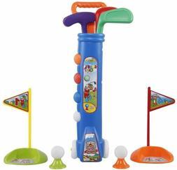 Liberry Kids Golf Clubs Set, Golf Toy with Golf Cart, 3 Golf