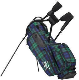 TaylorMade Lifestyle Flextech Stand Bag Blue Plaid Golf Carr