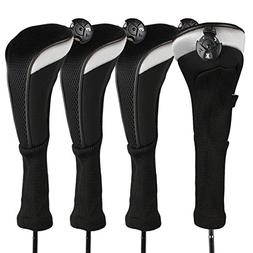 Andux 4pcs/Pack Long Neck Golf Hybrid Club Head Covers Inter