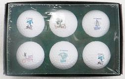 LOT OF SIX DISNEY GOLF CLUBS GOLF BALLS MINT IN BOX