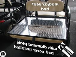 Madjax model Golf Cart Diamond Plate Flip Seat Square BED Co