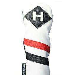 Majek Retro Golf Hybrid Headcover White Red Black  Vintage L