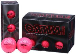 Nitro Maximum Distance Pink Golf Balls