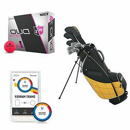 Wilson Men's Left-Hand Golf Clubs and Golf Balls and Golf Sh