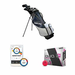 Wilson Men's Right-Handed Golf Clubs + Golf Balls + Golf Sho