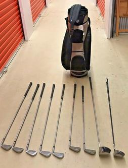 Men's Right-Handed Set of 9 Golf Clubs  and Bag *Local Picku