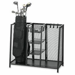 Metal Two Bag Golf Club Accessories Organizer Ball Clubs Equ