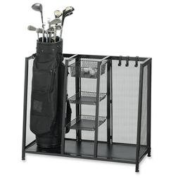 Metal Two Golf Club Bag Organizer Equipment Accessories Stor