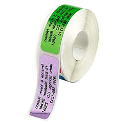 Metallic Rainbow Rolled Address Labels without Dispenser by