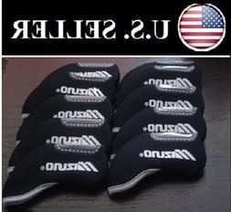 New!! Mizuno 10pcs Black Headcover for Any Iron Club - Neopr