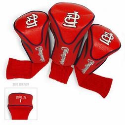 MLB St Louis Cardinals 3 Pack Contour Head Covers