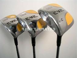 "NEW +1"" INCH SQUARE FAIRWAY  WOODS 3 5 7 GOLF CLUBS 677"