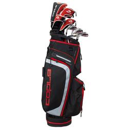 New 2018 Cobra XL Men's Black/Red Complete Golf Package Set