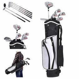 New 6 Piece Golf Club Set for Kids Wood Iron Putter w/Stand