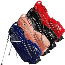 """NEW Ouul Golf Alligator 5-way 8.5"""" Top Stand / Carry Bag - P"""
