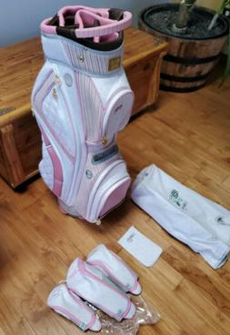 NEW Lilybeth Golf Bag White and Pink ~ Accessories Included