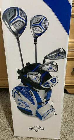 NEW LH Callaway XJ Junior Set White  7 Piece Complete Golf S