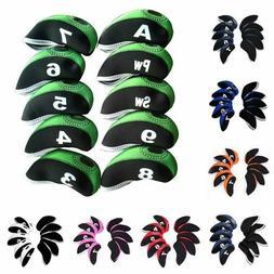New Neoprene 10pcs/set Golf Club Iron Head Covers Set Golf I