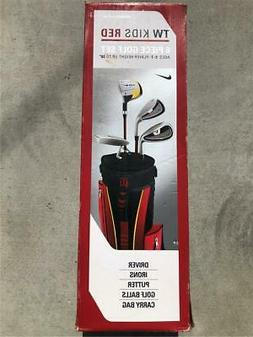 NEW RARE NIKE TIGER WOODS TW KIDS/YOUTH RED 5 PIECE GOLF SET