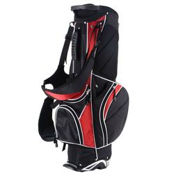 New Red Golf Stand Cart Bag Club w/6 Way Divider Carry Organ