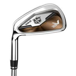 NEW Wilson Staff FG Tour V6 Raw Iron Set 5-PW Steel Stiff Fl