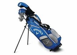 New Callaway XJ-3 Junior Boys Golf Set Ages 9-12 Blue