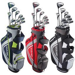 New Top Flite XL Men's Golf Set Bag Headcovers Steel 13 Piec