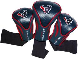 NFL Houston Texans 3 Pack Contour Head Covers