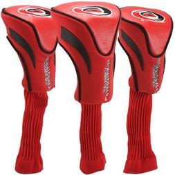 NHL Carolina Hurricanes 3-Pack Golf Club Headcovers - Red
