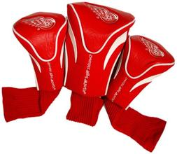 NHL Detroit Red Wings 3 Pack Contour Head Covers