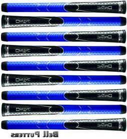 Nine  Winn Dri-Tac Polymer Midsize Black/Blue Golf Grips-Men