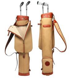 Tourbon Pencil Golf Club Bag Cart Carrying Sunday Travel Vin