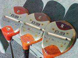 PERSIMMON Louisville Made USA Wood Niblick Clubs Set 2 3 5 N