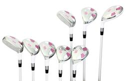 Senior Women's Majek Golf White Ladies Hybrid Set  Lady Fl