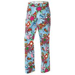 Royal & Awesome Men's Plus Size Golf Pants, Partoon, 38W x 3