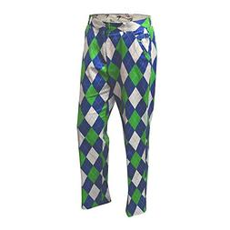 Royal & Awesome Men's Plus Size Golf Pants, Blues on The Gre