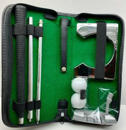 Portable Golf Putter Set with Case Training Trainer Tool Gol