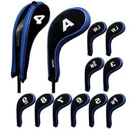 print golf iron covers