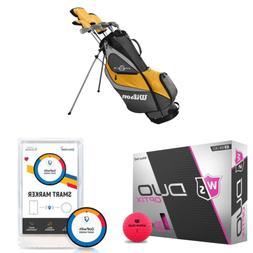 Wilson Profile XD Golf Clubs & Staff Duo Soft Optix Ball & G