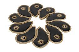 MAXZOLA PU Leather Golf Iron Head Covers,Velcro,New Design