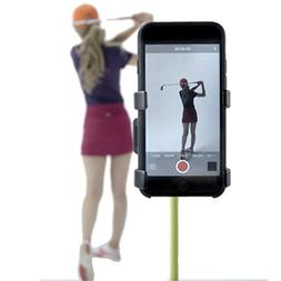 Recording Swing Selfie Clip Cell Phone Mount Holder Golf Acc